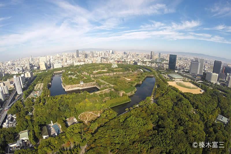 大阪城の空撮