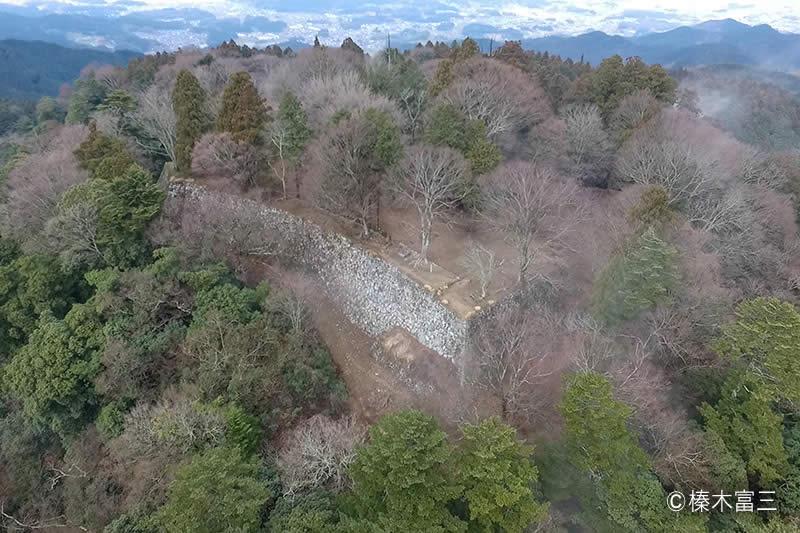 高取城の空撮